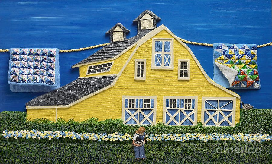Yellow Barn by Anne Klar