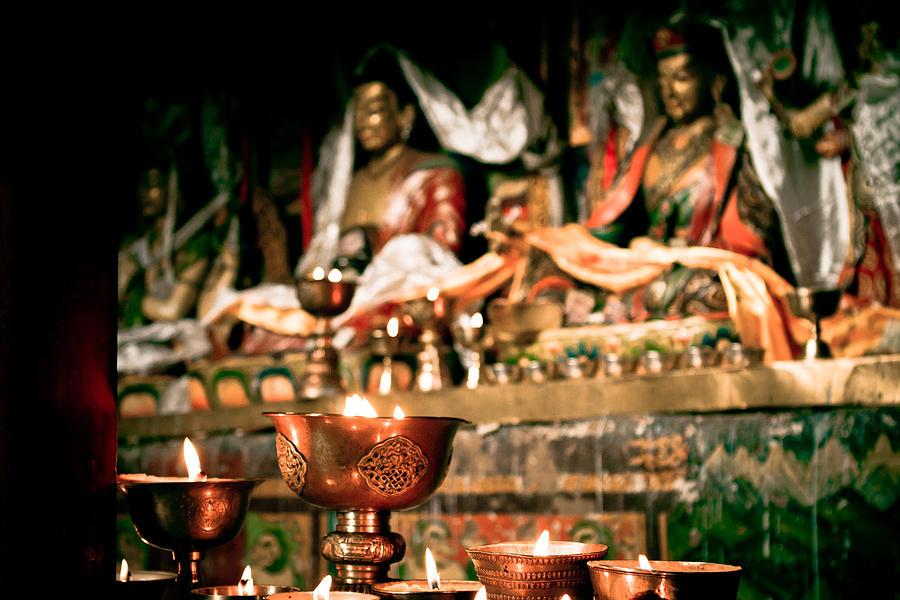 Milarepa Photograph - Zuthrul Phug Monastery Milarepas Cave by Raimond Klavins