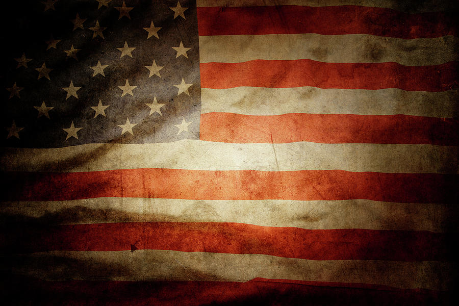 Flag Photograph - American Flag  by Les Cunliffe