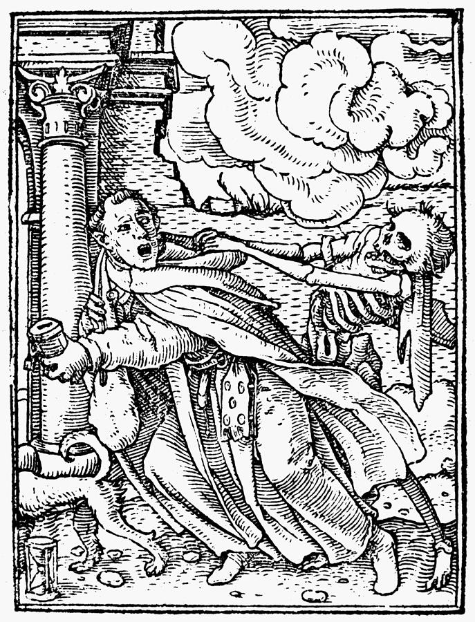 1538 Drawing - Dance Of Death, 1538 by Granger