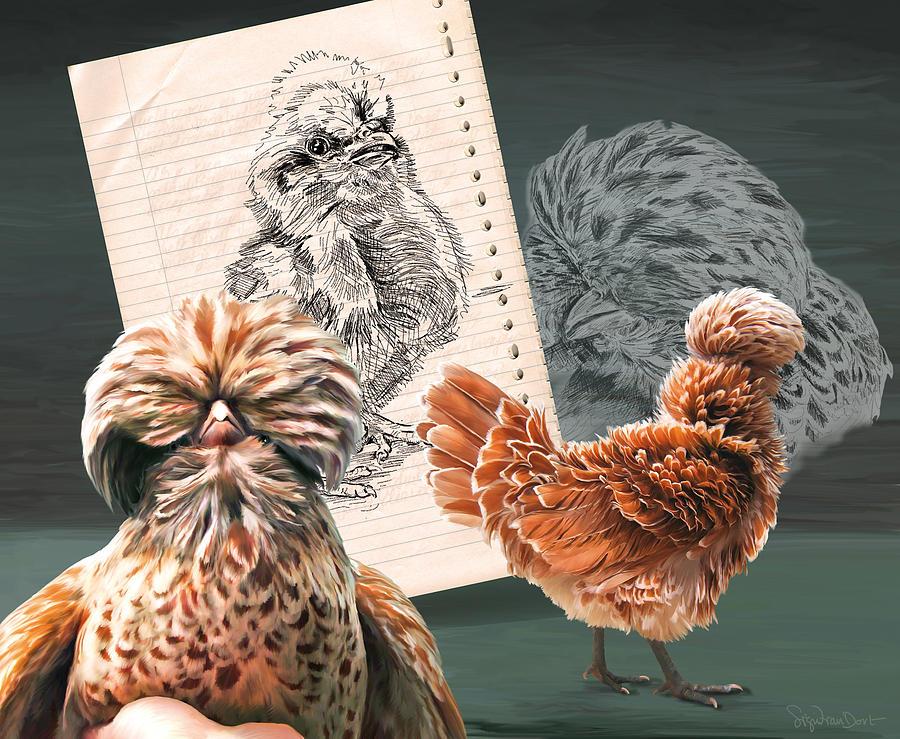 Chicken Digital Art - 30. Padua Mix by Sigrid Van Dort