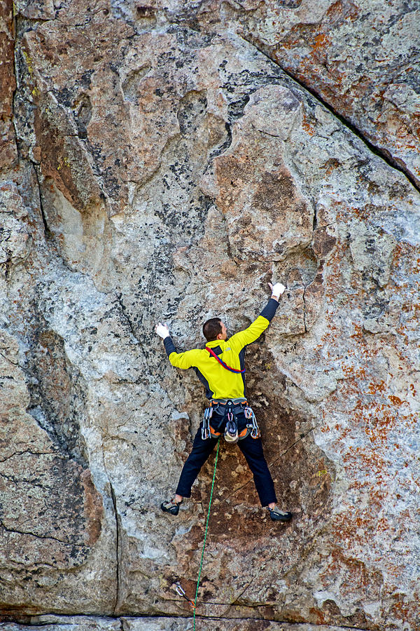 Rock Climbing Photograph - Rock Climber by Elijah Weber