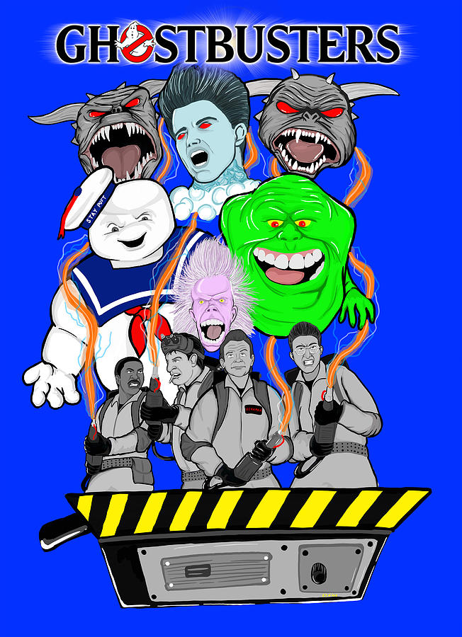 Ghostbusters Painting - 30 Years Of Ghostbusters by Gary Niles