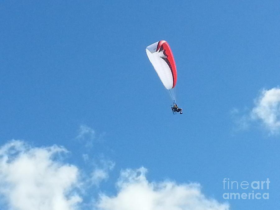 Para Sailing Photograph - 300 Foot Suspension by Jeffrey  Johnson
