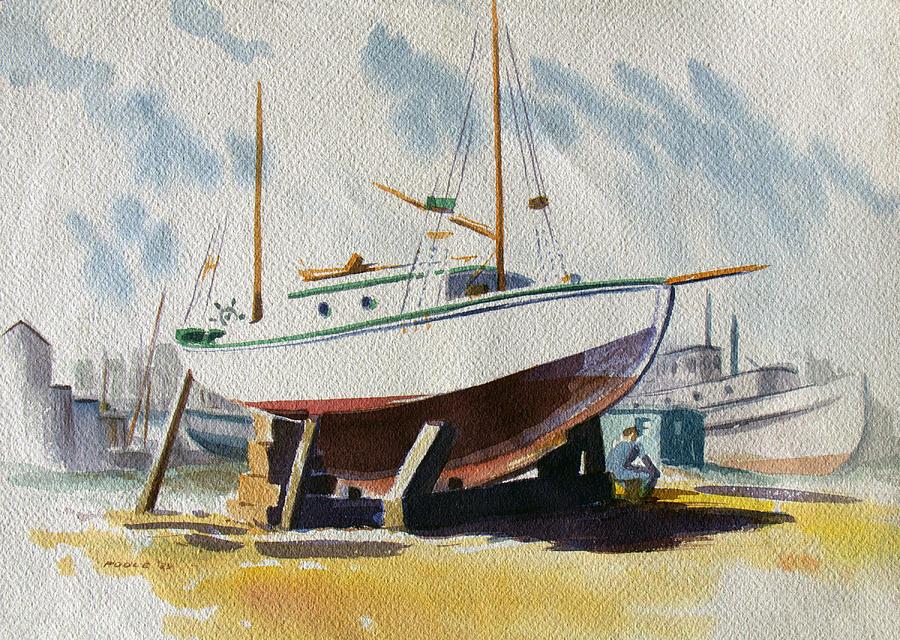 The Shipyard by Frank Edward Poole