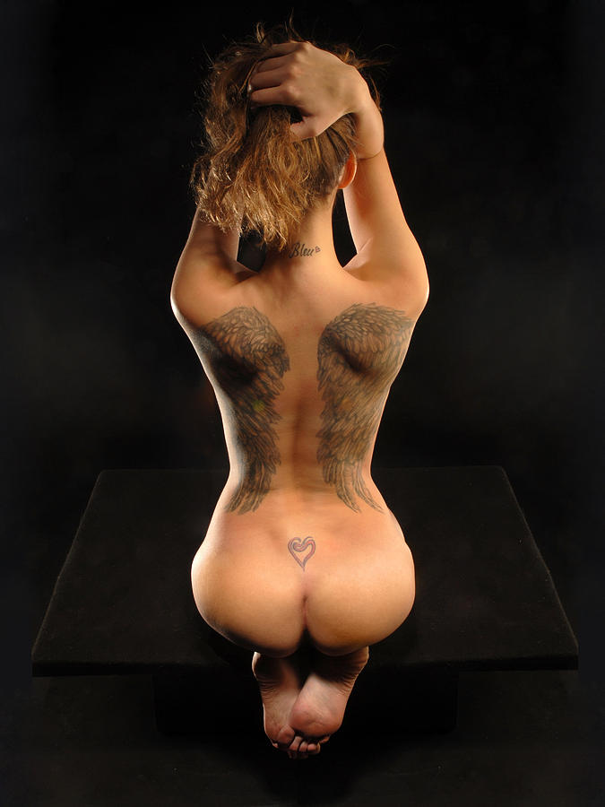Tattoo angel wings on back fully naked fucking