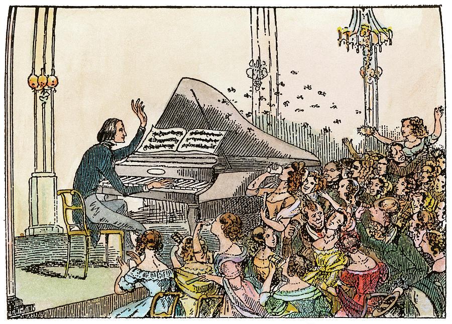 Franz Liszt (1811-1886) Drawing by Granger