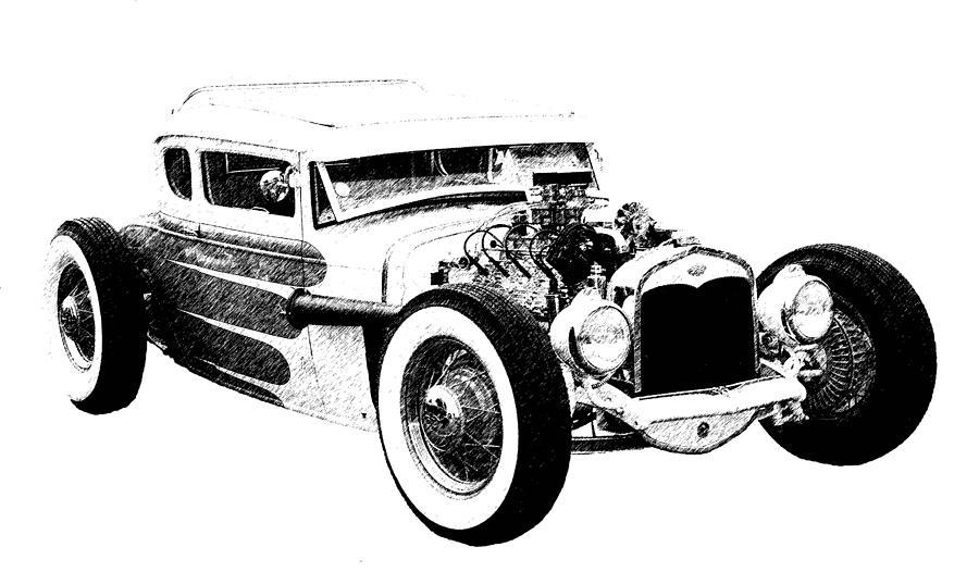 1931 Model A Photograph - 31 Model A by Guy Whiteley