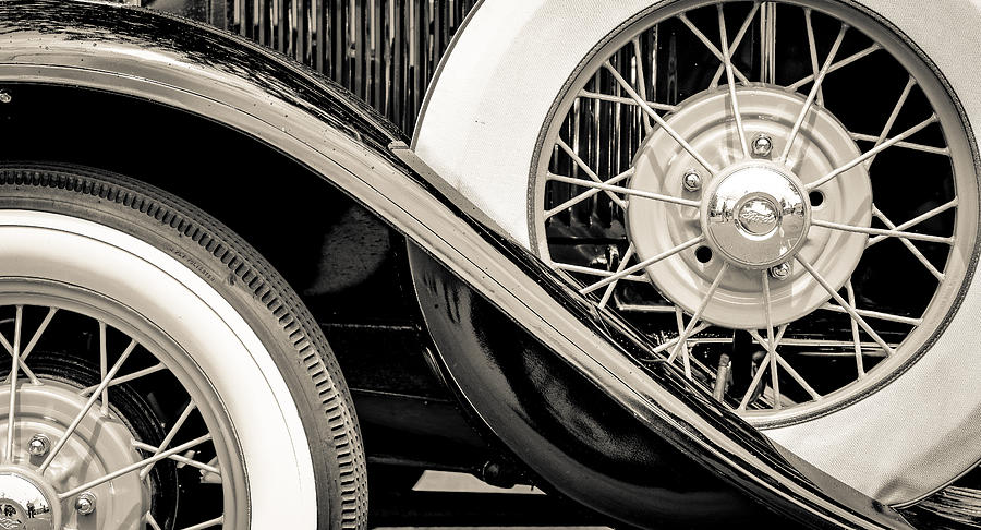 1931 Ford Model A Photograph - 31 Model A Wheels by Ronda Broatch