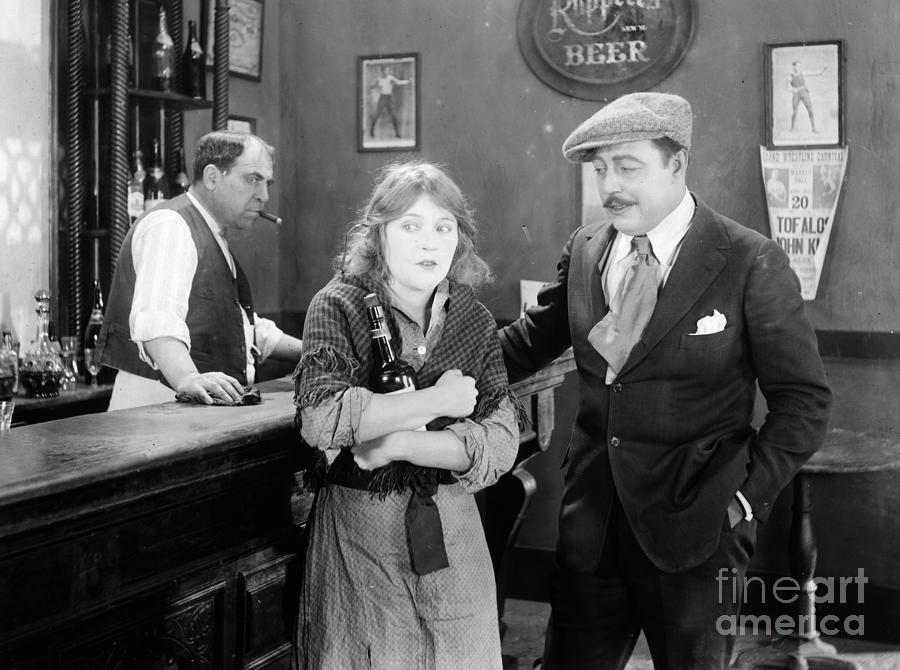 1920s Photograph - Silent Film Still: Drinking by Granger