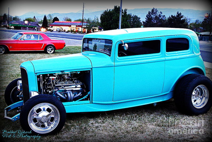 32 Ford Photograph - 32 Ford Victoria Two Door by Bobbee Rickard