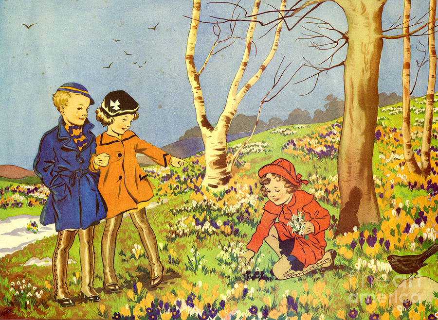 1950�s Drawing - Infant School Illustrations 1950s Uk by The Advertising Archives