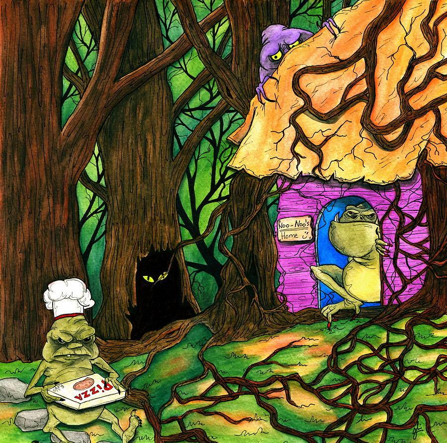 Gremlin Painting - 32 Minutes by Julie McDoniel