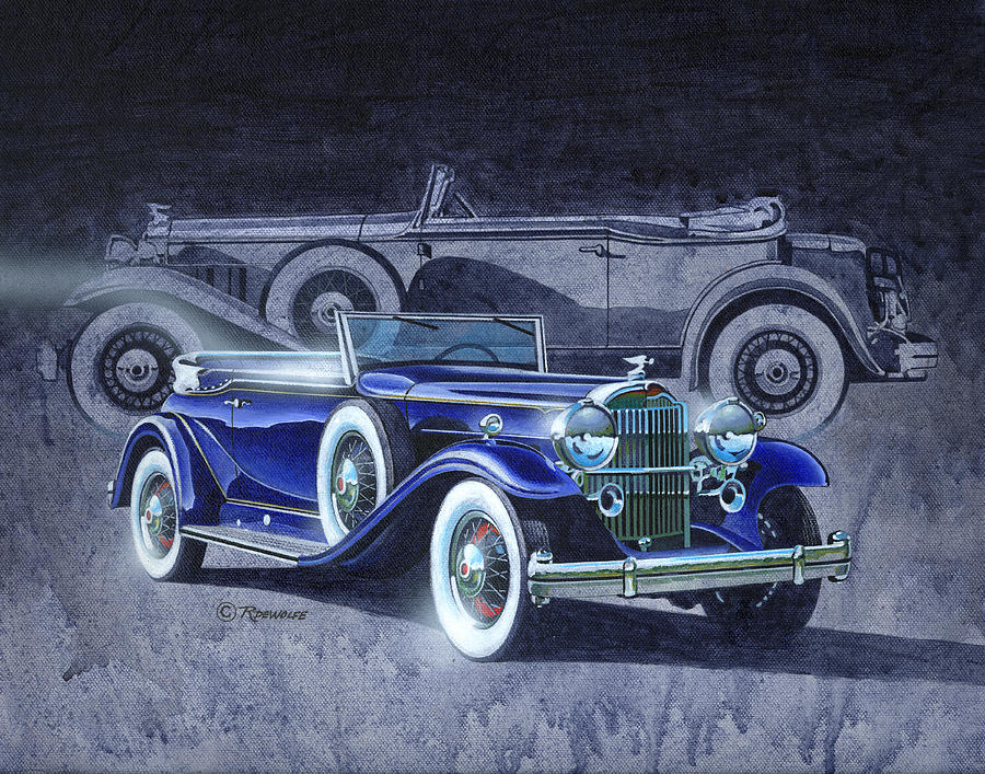 Antique Painting - 32 Packard by Richard De Wolfe
