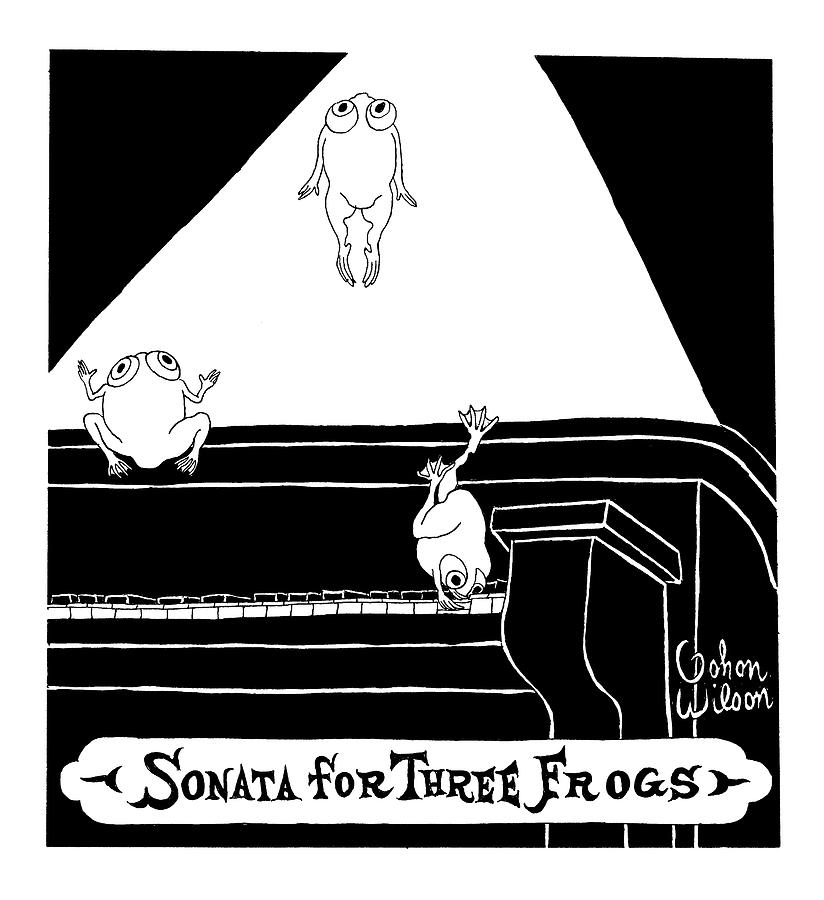 Sonata For Three Frogs Drawing by Gahan Wilson