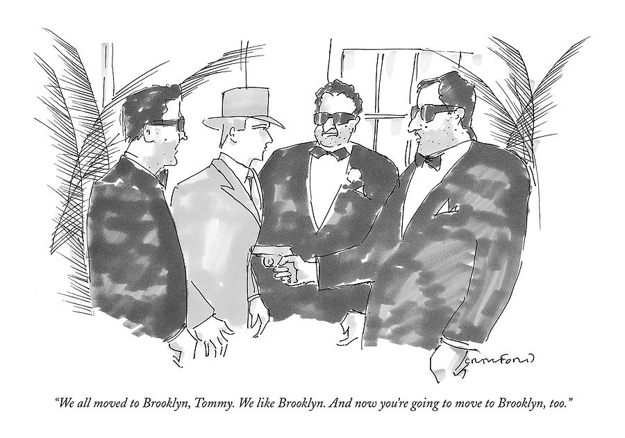 We All Moved To Brooklyn Drawing by Michael Crawford