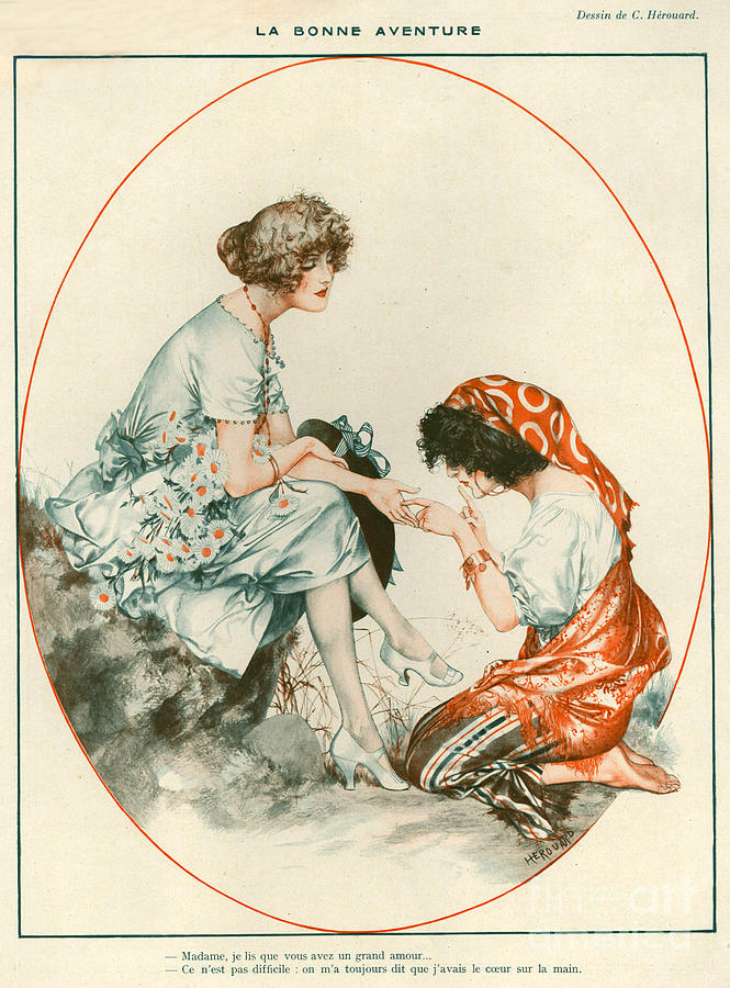France Drawing - 1920s France La Vie Parisienne Magazine 321 by The Advertising Archives
