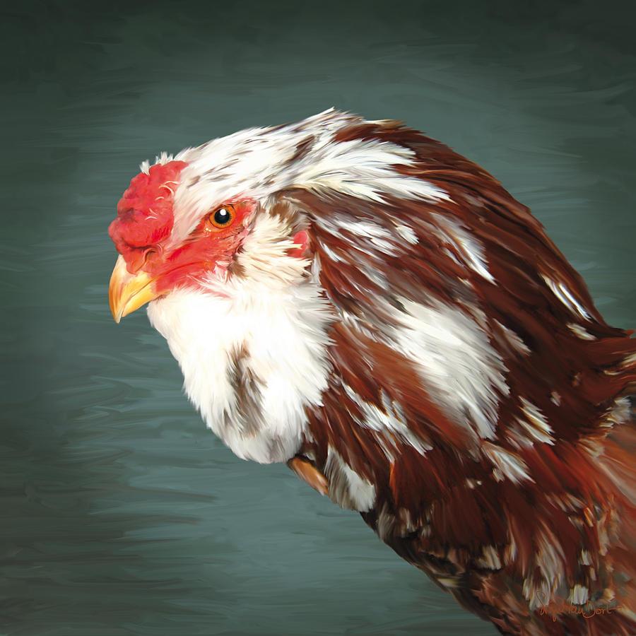 Chicken Digital Art - 33. Orlov Head by Sigrid Van Dort