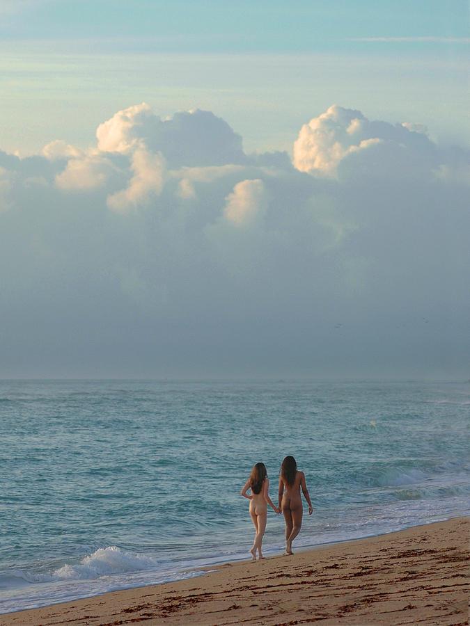 Walking nude beach girls