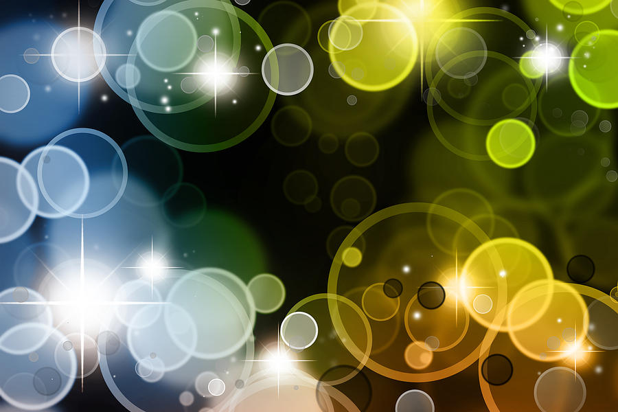 Sparkle Photograph - Abstract Background by Les Cunliffe