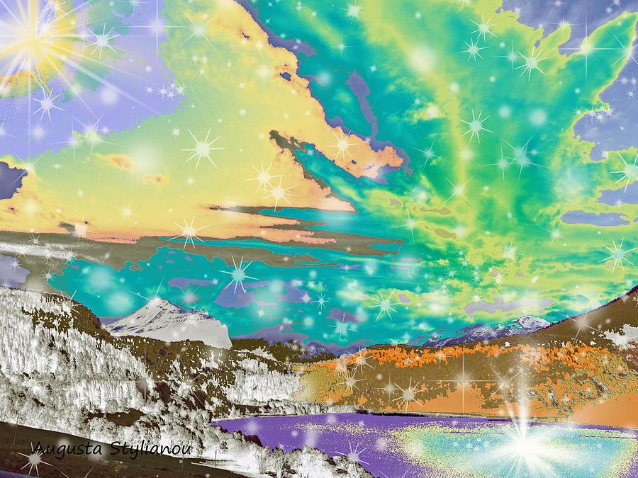 Stars Digital Art - Space Landscape by Augusta Stylianou