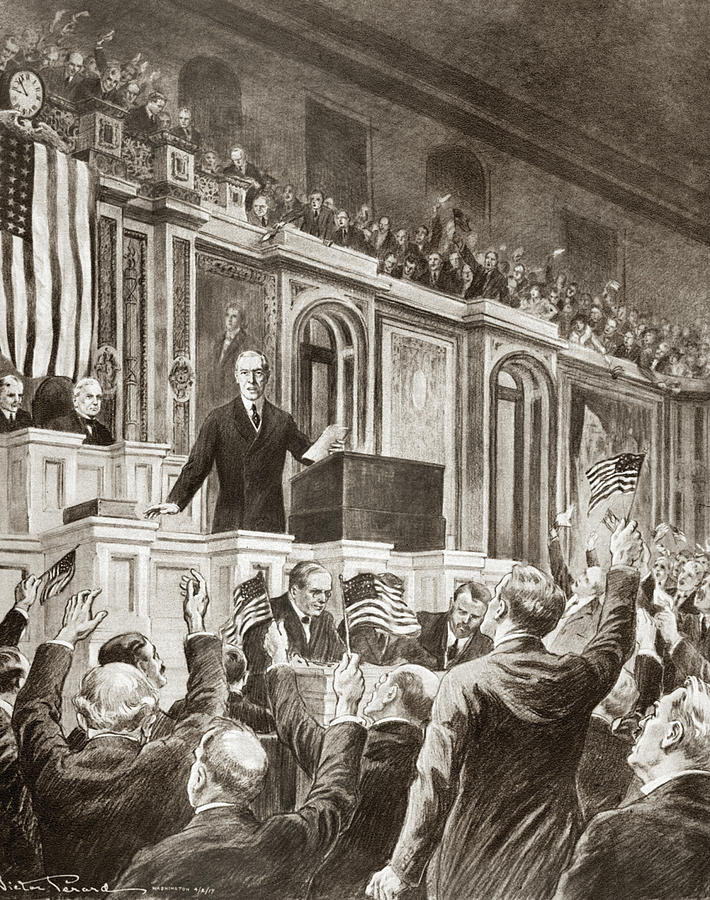 1917 Drawing - Woodrow Wilson (1856-1924) by Granger
