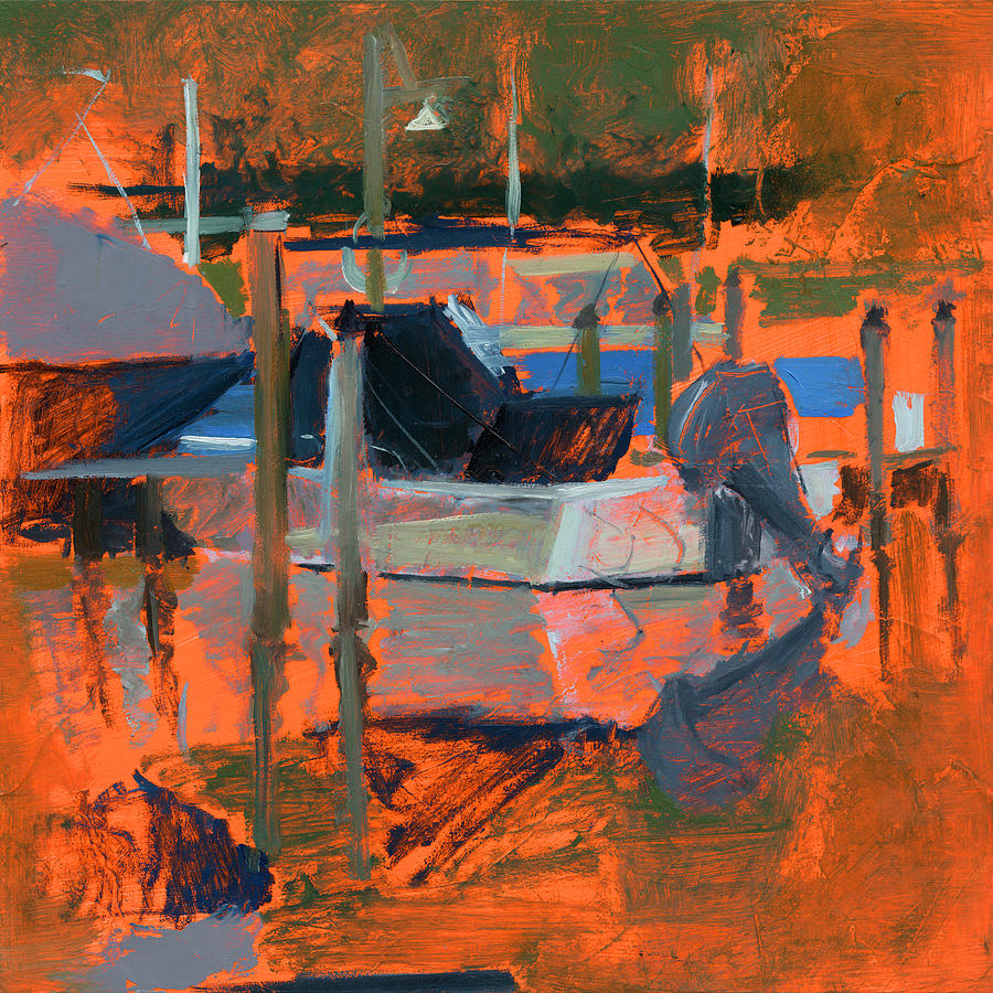 Boats Painting - Rcnpaintings.com by Chris N Rohrbach