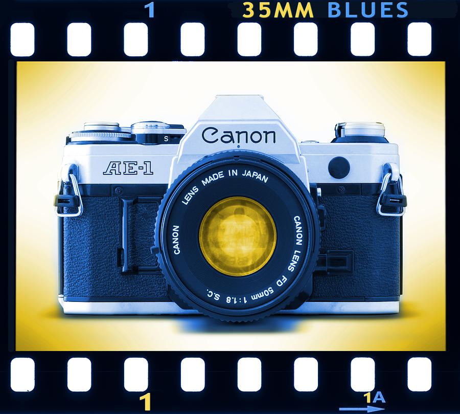 Film Camera Photograph - 35mm Blues Canon Ae-1 by Mike McGlothlen