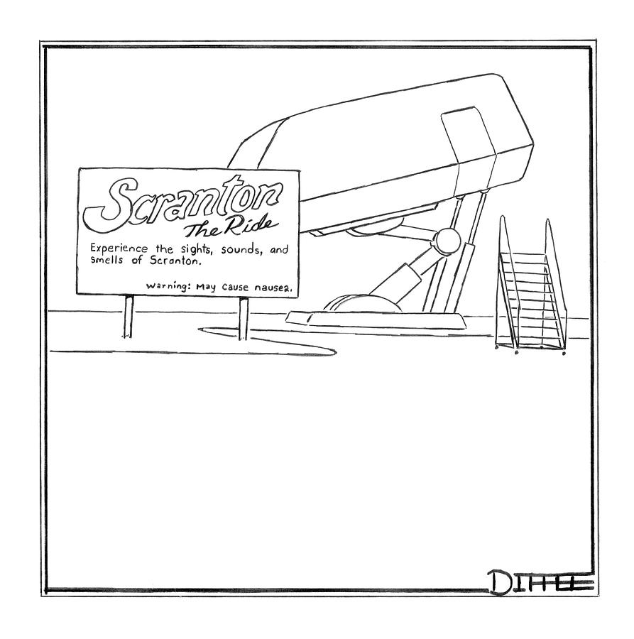 2005 Drawing - Scranton The Ride by Matthew Diffee