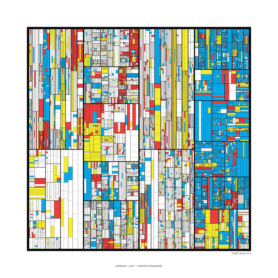 Pi Digital Art - 3628 Digits Of Pi by Martin Krzywinski