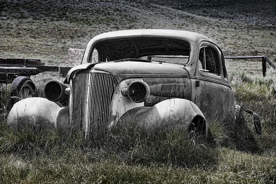 Old Car Photograph - 37 Chev by Kelley King