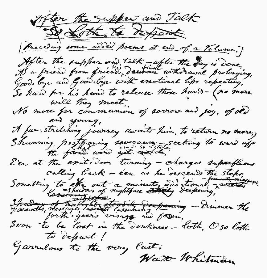1888 Painting - Walt Whitman (1819-1892) by Granger