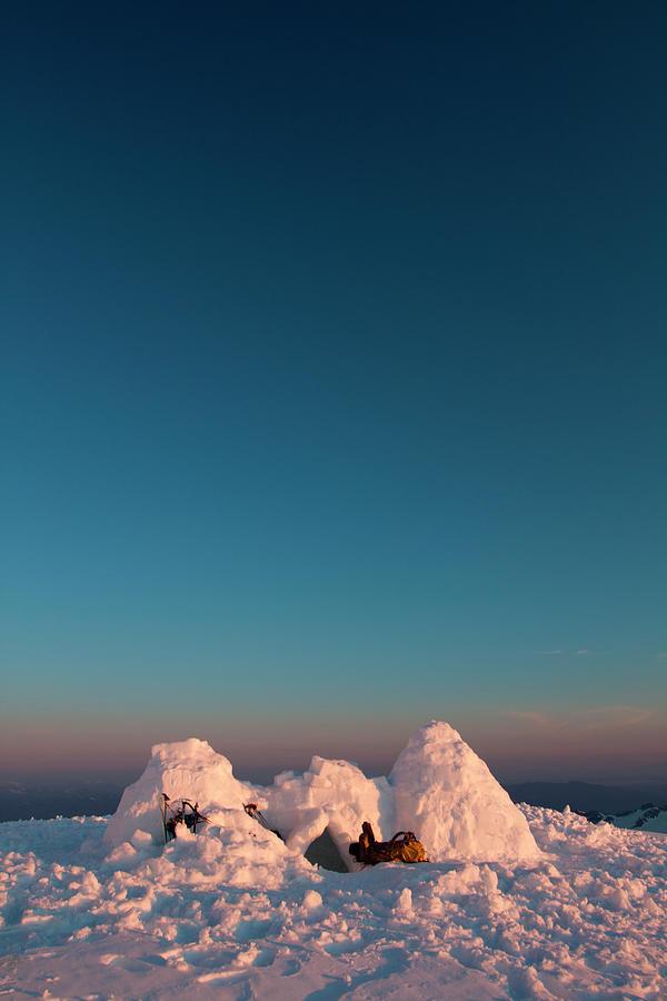 Climbing Mount Baker Photograph by Christopher Kimmel