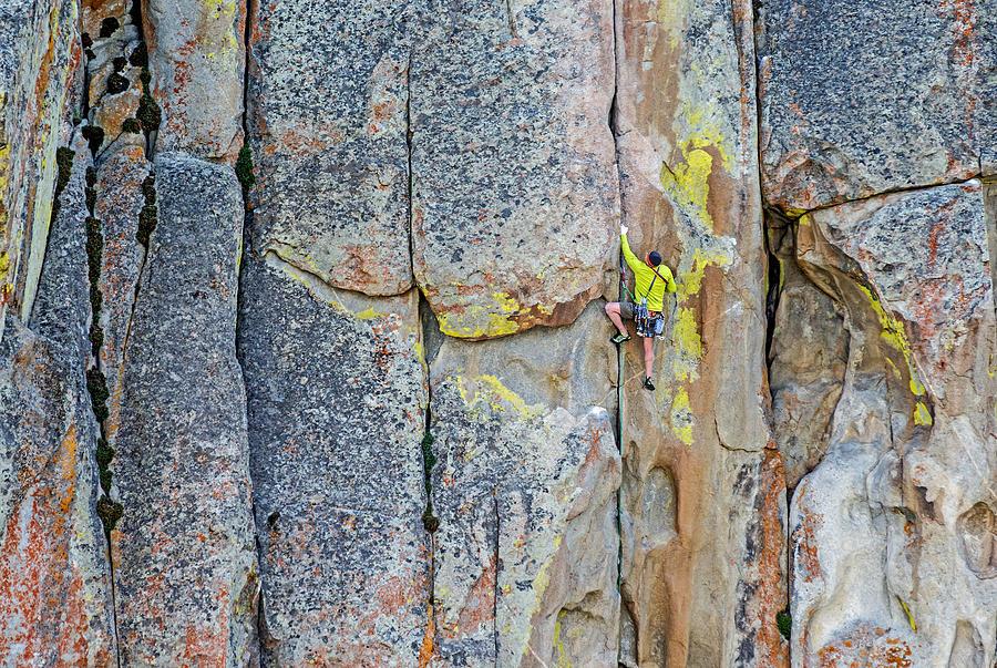 Mark Weber Photograph - Rock Climber by Elijah Weber