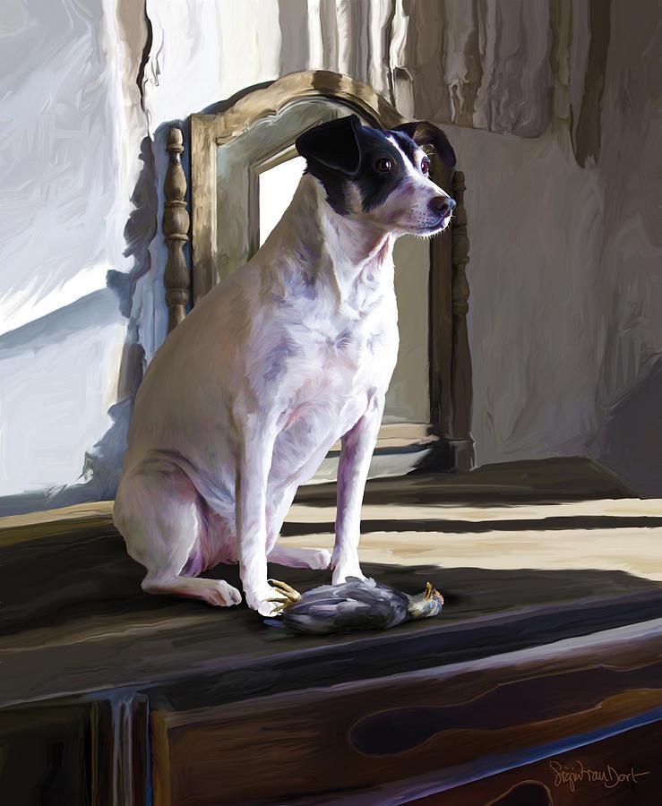 Dog Digital Art - 38. Ugly Dog by Sigrid Van Dort