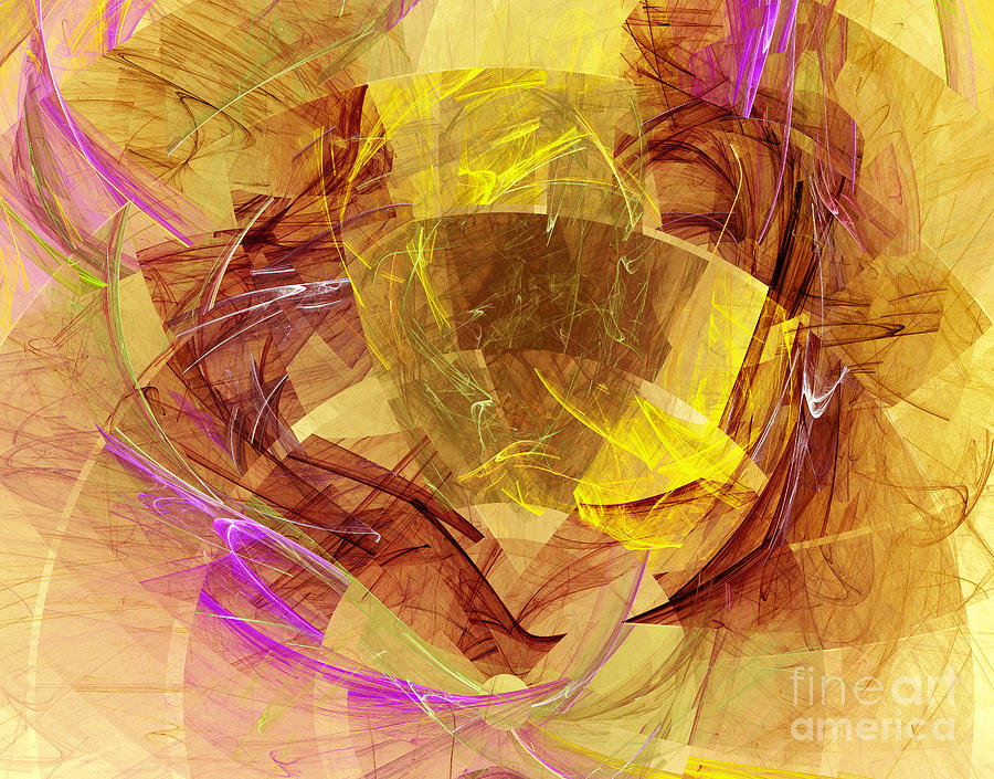 Colorful Abstract Forms Digital Art