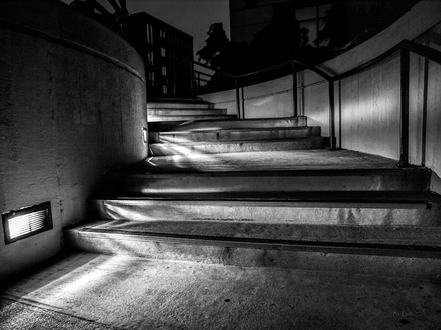 Steps Photograph - 3am Portland by Bob Orsillo