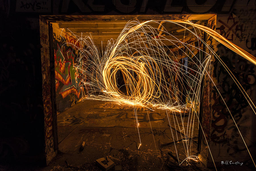 Steelwool Photograph - 3d Fire by Bill Cantey