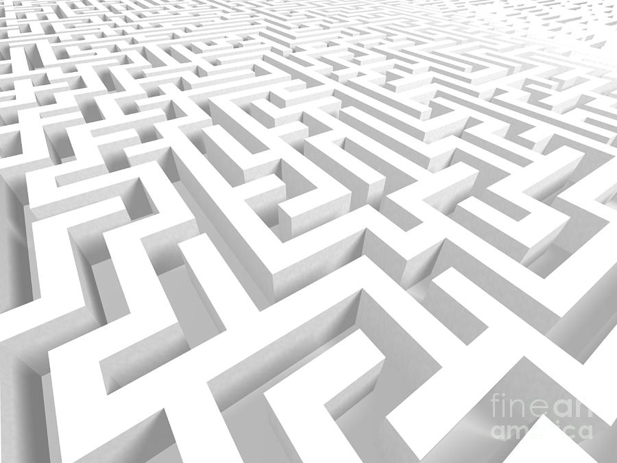 3d Digital Art - 3d Maze - Version 2 by Shazam Images