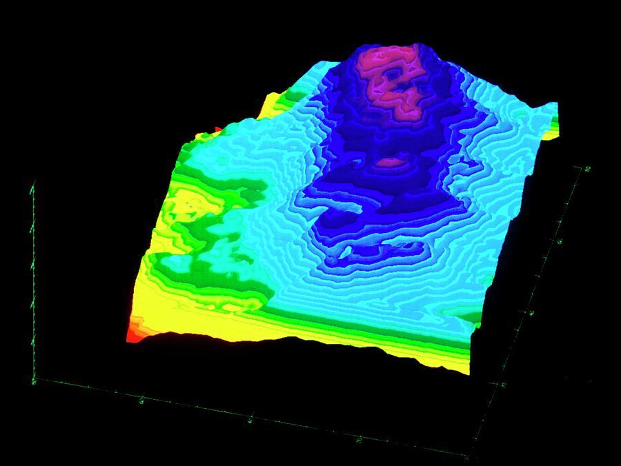 3d Radar Reconstruction Of Kilauea Volcano by Nasa/science Photo Library
