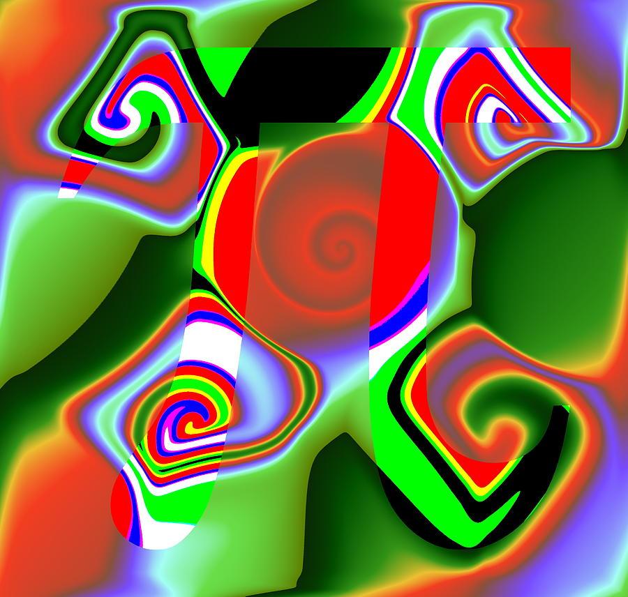 Pi Digital Art - 3Pi by Ron Hedges