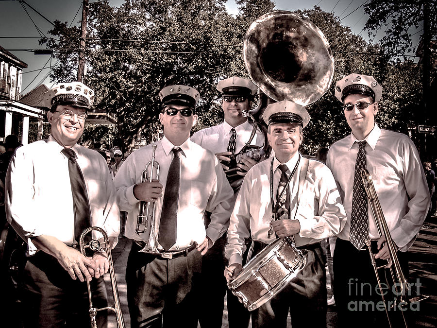 Band Photograph - 3rd Line Brass Band by Renee Barnes