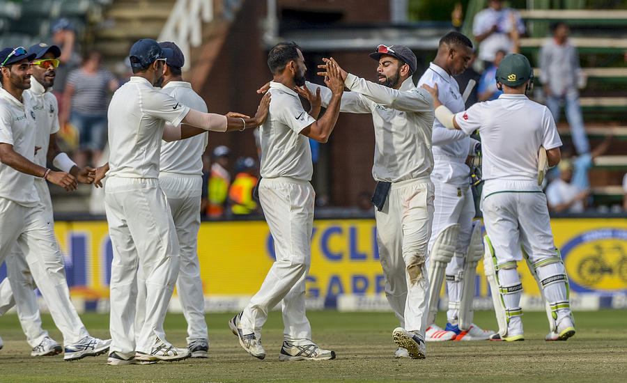 3rd Sunfoil Test: South Africa v India, Day 4 Photograph by Gallo Images
