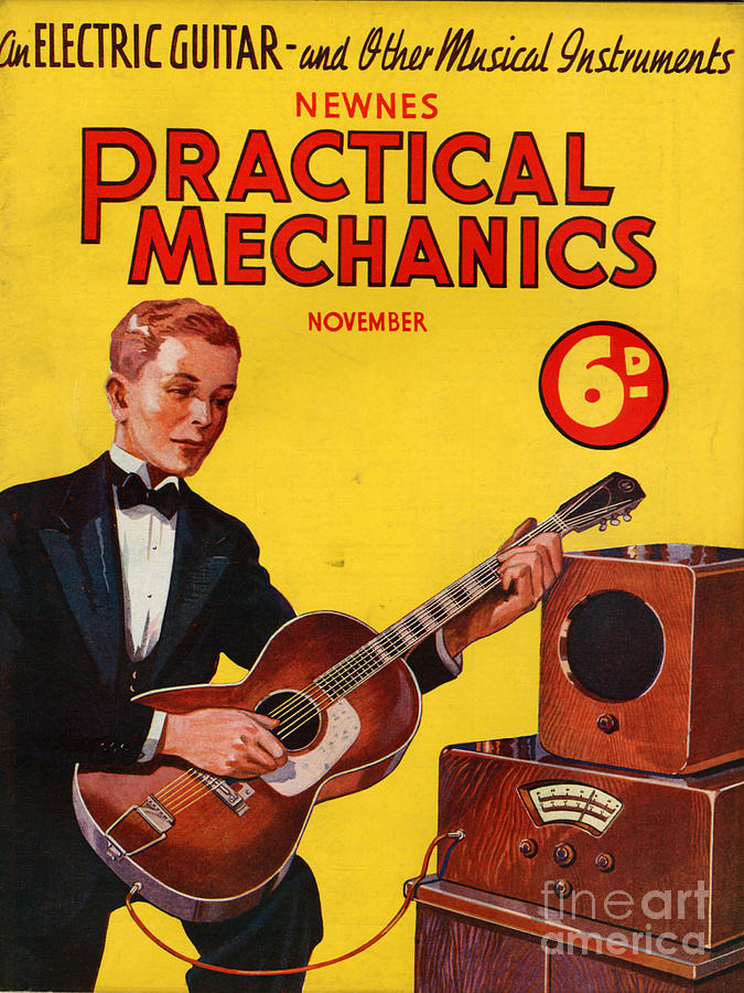 Magazine Cover Photograph - 1930s Uk Practical Mechanics Magazine by The Advertising Archives