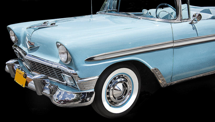Engine Photograph - 1956 Chevrolet Bel Air Convertible by Rich Franco