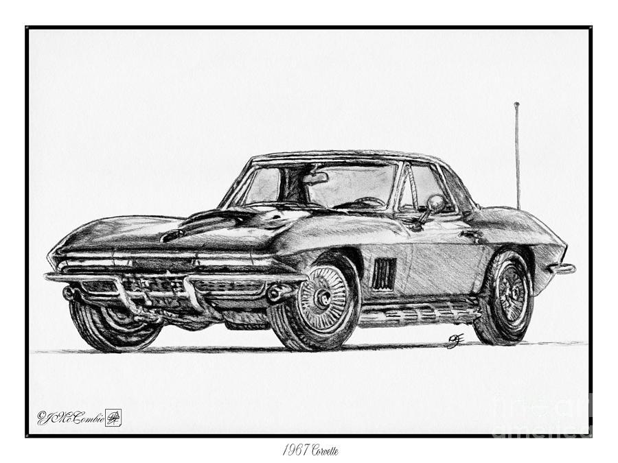 1967 corvette drawing by j mccombie