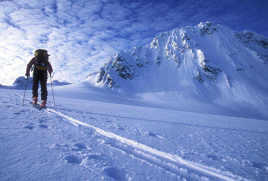 Adventure Photograph - A Woman Ski Tours And Explores 4 by Jimmy Chin