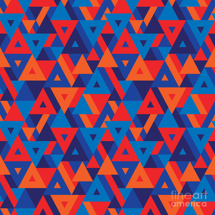 Graphical Digital Art - Abstract Geometric Background - by Sergey Korkin