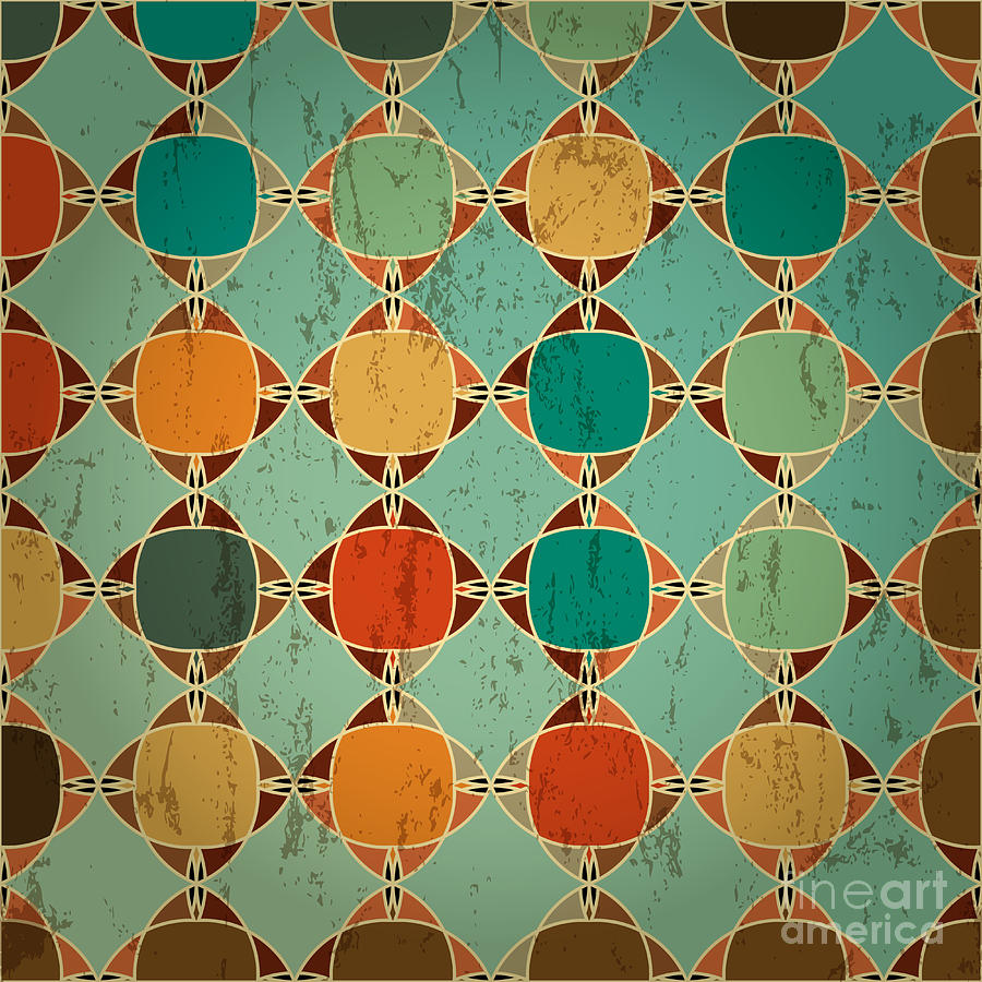 Color Digital Art - Abstract Geometric Pattern Background by Kirsten Hinte
