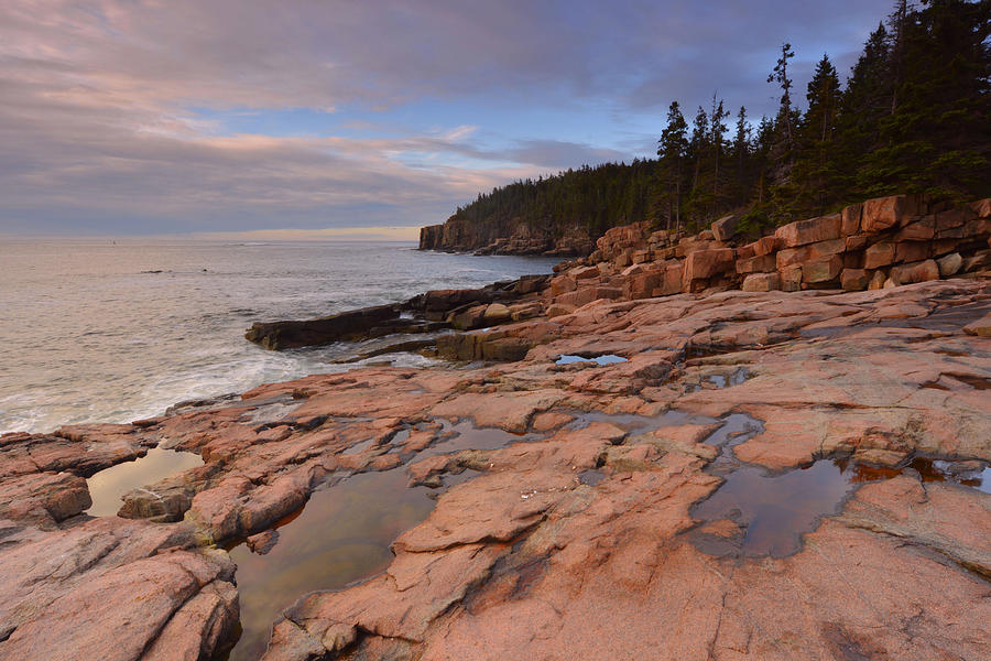 Sunrise Photograph - Acadia Sunrise by Stephen  Vecchiotti